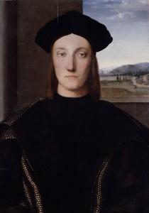 portrait of Guidobaldo da Montefeltro by Raphael, c. 1506