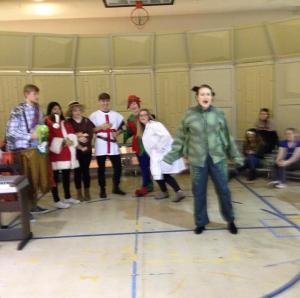 NSA Mummers rehearse, 2014
