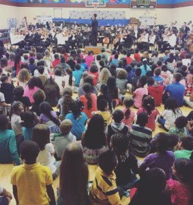The Nashville Symphony performs at Bradley Academy, Murfreesboro, October 19, 2016 ~ photo by Kelley Bell
