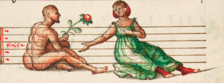 decoration from The Capirola Lute Book ~ in my opinion, an unusual image