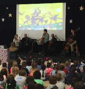 A quintet of Nashville Symphony musicians performs 'Carnival of the Animals' at Liberty Elementary School, November 18, 2016 ~ photo K.B.