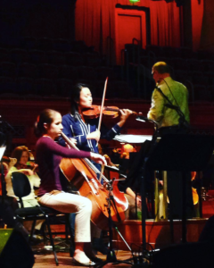 from my instagram feed: past winners of the Curb Concerto Competition rehearse with conductor Jeff Tyzik and the Nashville Symphony: Jocelyn Hartley, cello (2016) and Kaili Wang, violin (2015)
