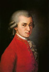 Wolfgang Amadeus Mozart ~ posthumous portrait by Barbara Krafft, 1819