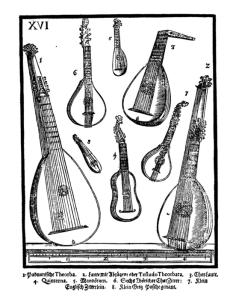 Lutes ~ Plate XVI from Michael Praetorius: Syntagma Musicum, 1619