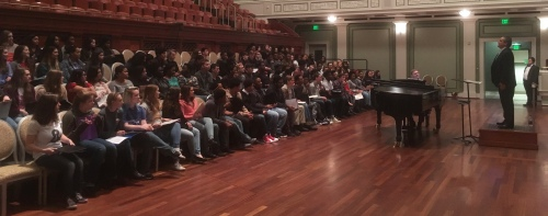The 2017 Schermerhorn Invitational Choral Festival ~ rehearsals begin (click any of these photos to enlarge them)