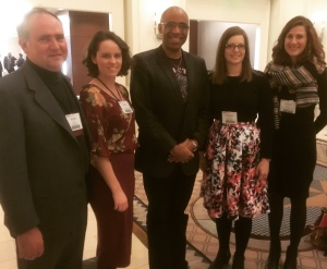 Nashville Symphony Education & Community Engagement staff with Aaron Dworkin, founder of Sphinx and Dean of University of Michigan School of Music, Theatre, & Dance, SphinxConnect, Detroit, February 10, 2017. (l to r) WB, Kelley Bell, Aaron Dworkin, Kimberly McLemore, Kristen Freeman.