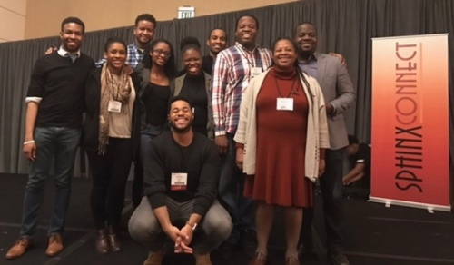 Atlanta Symphony TDP alumni gather for a photo at SphinxConnect 2017